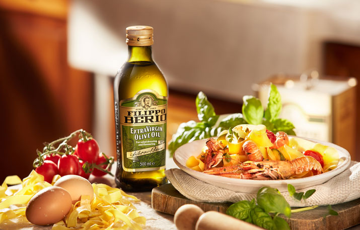 filippo berio: olive oil as the main component in the Mediterranean diet